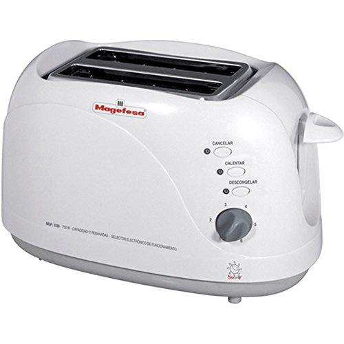 MAGEFESA 02TO3335000 -Tostador Modelo Sunny MGF3335, 750 W, Plástico, Blanco