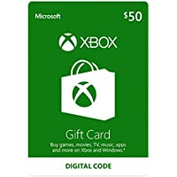 $50 Microsoft Xbox Live Gift Card [Digital Download]