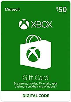 $50 Microsoft Xbox Live Gift Card [Digital Code]