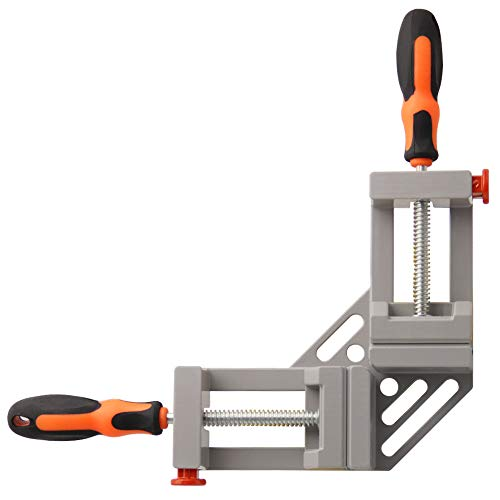 SAND MINE Double Handle Corner Clamp, 90 Degree Quick Release Corner Clamp for Welding, Wood-working, Photo...