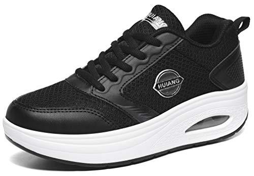 Solshine Damen Plateau Sneakers Gesundheitsschuhe Shape ups 798 Schwarz8 39 EU
