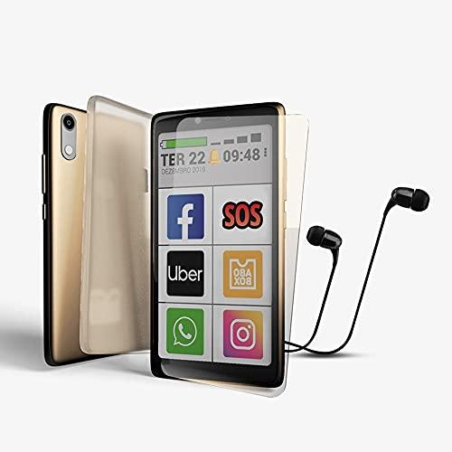 Kit Celular Obabox - Obasmart 3 Dourado 32GB + Fone + Película + Capinha
