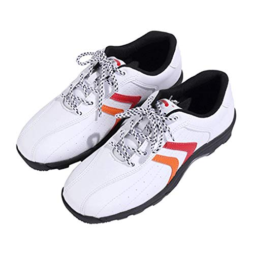 Aupast Men Waterproof Golf Shoe, Men's Microfiber Leather Ultralight Golf Shoes Lightweight Breathable Golf Shoes Anti-Skid Sneakers