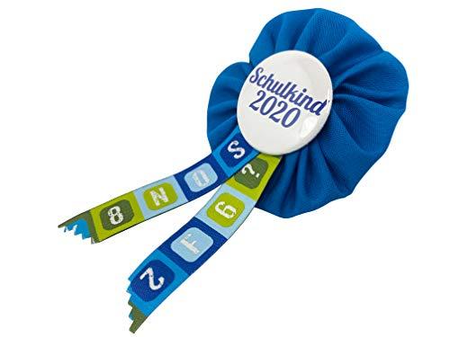 AnneSvea Orden Schulkind 2020 Set blau mit Stundenplan und ABC Poster Einschulung Schultüte Zuckertüte Deko Geschenk Mitbringsel