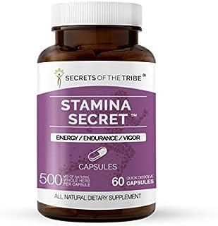 Stamina Secret 60 Capsules, 500 mg, Maca, Schisandra, Eleuthero Siberian Ginseng, Gotu Kola, Barrenwort - Horny Goat Weed,...