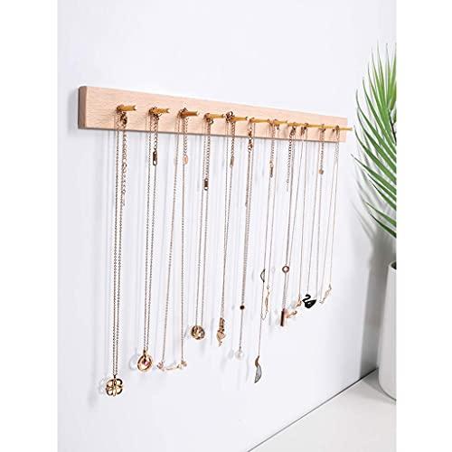 N\C Hängender Organizer Halsketten-Display-Holzständer, Fenster-Display, Wand-Halsketten-Display-Ständer LKWK