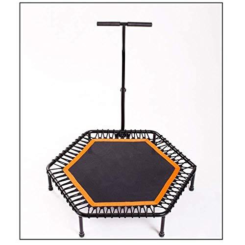 Fitness Trampoline voor volwassenen Vouwen 3 Bestanden Verstelbaar Met Handvat Maximale belasting 150KG Ultra-Quiet