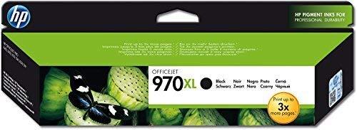 HP 970XL CN625AE Cartuccia Originale per Stampanti a Getto di Inchiostro, Compatibile con Stampanti Officejet Pro X451dw, X476dw, X551dw e X576dw, Nero
