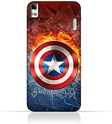 Lenovo A7000 TPU Silicone Protective Case with Shield of Captain America Design