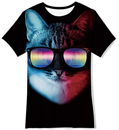 FanientKurzarm Galaxy Graphic T-Shirts Rundhals-T-Shirt Sommerhemd Tops Outfits für Mädchen Jungen