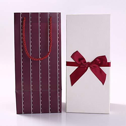 lijie Cajas de Carton con Tapa,Caja de Regalo vacía.1 Piezas Caja de Joyas de Cajas de Cartón de Rectángulo de Kraft Marrón para Exhibición de Regalos de Anillo de Collar.