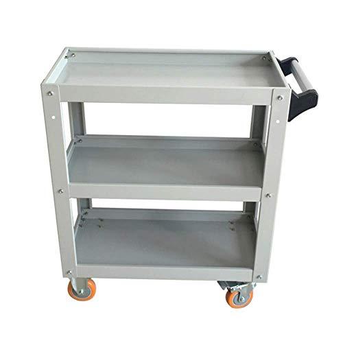 HIGHKAS 3-stufige Lagerregale Werkzeugwagen Hochleistungs-DIY-Werkzeugaufbewahrungsrad Wagenwagen mit 360 frei drehbaren Rädern für die Werkstattgarage
