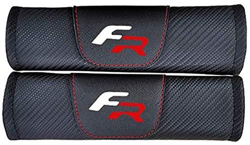 2 Stück Gurtpolster Auto für Seat Leon 2 FR,Stickerei Car-Logo Sicherheitsgurt Schulterpolster Auto-Styling Innere Zubehör