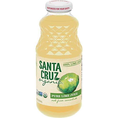 SANTA CRUZ Lime 100% Organic Juice, 16 Ounce