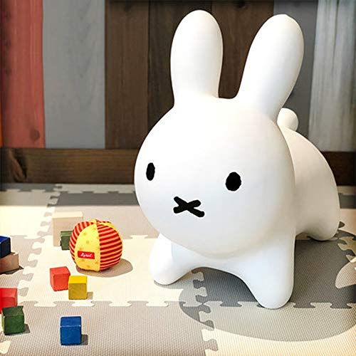 SXNYLY Children's Rocking Horse Vaulting Horse 1-5 Years Old Children's Inflatable Toys Cute Rabbit Mounts Thickened Safety Anti-rollover (Color : White)