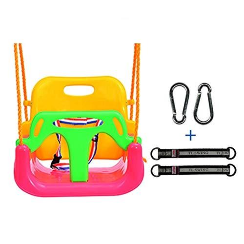 zxb-shop Columpios Columpio con Asiento de suspensión for el Asiento del Columpio for niños de Tres en uno for Uso en Interiores y Exteriores Bebé a Adolescente 5 Colores (Color : Pink-A)