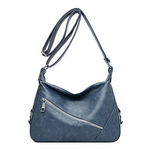 BUKESIYI Mujer Bolsos Bandolera Vestir Casual Bolsos de Mano Convertible PU Cuero Piel CCES77159 Azul