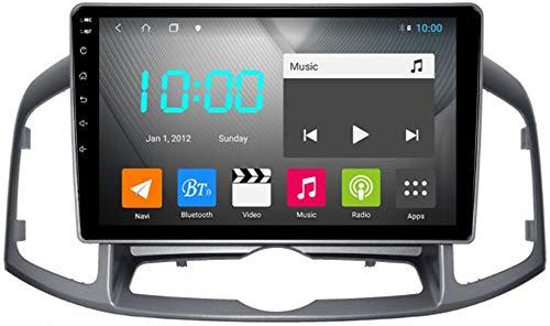 WYFWYT Autoradio mit Navi Android 9.0 Navigationsgeräte für Auto für Chevrolet Captiva 2012-2016 Multimedia Player 9 Zoll Touchscreen Bildschirm Unterstützt Bluetooth USB Fm Radio WiFi,4g+WiFi 4g+64g