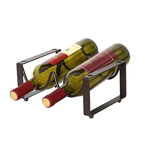 zaizai Estante De Vino Estante De Botellas Estante De Vino Estante De Vino Estante De Botella Soporte De Botella De Vino Independiente 2 Botellas Soporte De Estante De Vino