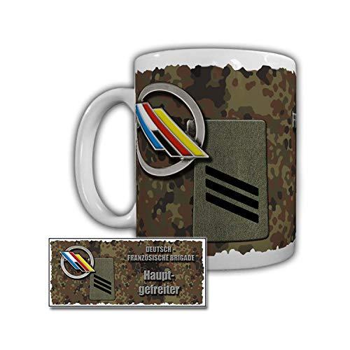 Tasse DEU-FRA Brigade Hauptgefreiter Freundschaft Vertrauen Bundeswehr #29420