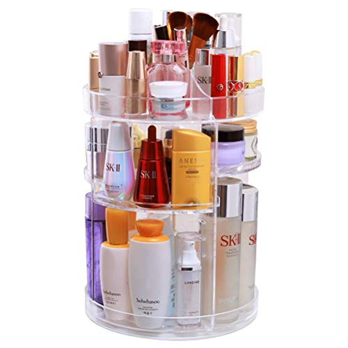 OFNMY Kosmetik Aufbewahrungsbox Kosmetik-Organizer 360° drehbar Kosmetikbox für Lippenstift,...
