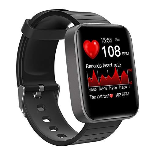 XXLL Reloj Inteligente, Mide la Temperatura Corporal, frecuencia cardíaca, presión Arterial, Pulsera Inteligente de oxígeno, rastreador de Ejercicios a Prueba de Agua para Hombres y Mujeres