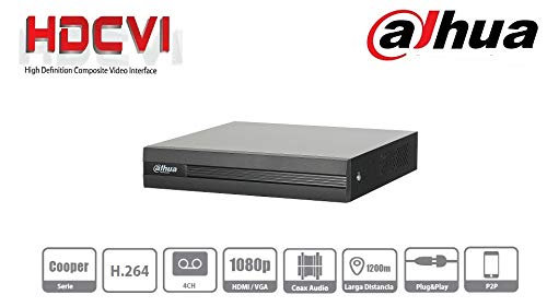 Dahua DVR 4 Canales HDCVI PENTAHIBRIDO 1080P Lite / 720P/ H264/ 1 CH IP Adicional 4+1/ SATA hasta 6TB/…