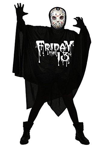 Karneval-Klamotten Kostüm Chainsaw Massacre Jason Voorhees Halloween Freitag, der 13. Horror Herrenkostüm inkl. Maske Einheitsgröße