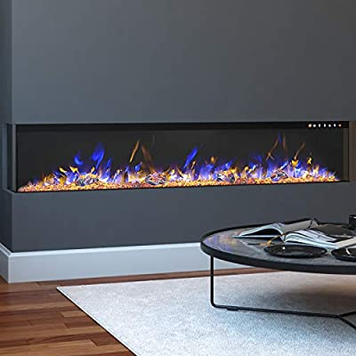 """Regal Flame Spectrum Modern Linear Electric 3 Sided Wall Mounted Built-in Recessed Fireplace (60"""")"""