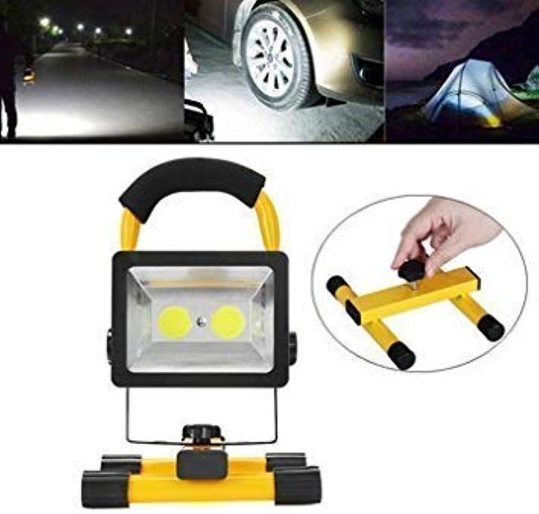 30W 2400Lm Outdoor Cob Emergency Portable Floodlights Work Lights Led Camping Hiking Lantern [110V Us Plug]