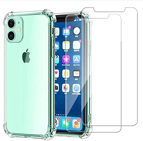 Cavie Brands iPhone 11 Clear Case with 2 Screen Protectors, Maximum Shock Absorption Protection, Clear iPhone 11 Case...