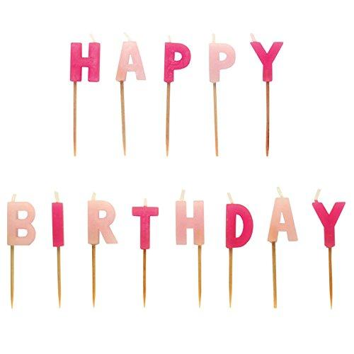 amscan - 551763 - Set Bougies Piques Happy Birthday - Rose