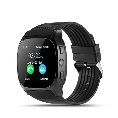 Smartwatch T8 Bluetooth Uhr Voller Touch Screen IP68 Wasserdicht Smart Watch Damen Herren mit SIM & TF Slot Kompatibel mit Android iOS