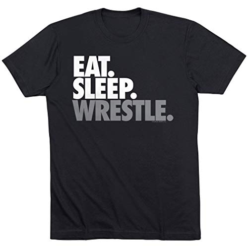 ChalkTalk Sports - Camiseta de lucha libre - Negro - Medium
