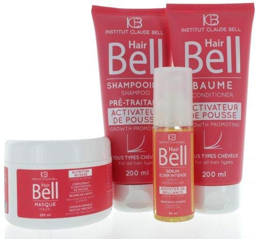 Veana HairBell Shampoo + conditioner + masker + booster serum roze edition, 4 stuks