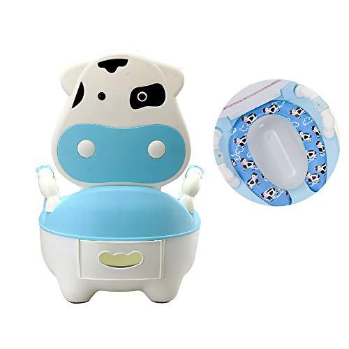 Gu3Je Gute Qualität Portátil Potty Multifunción Baby with Aire Potty Niño Potty Capacitación Chicas Niño Potty Kids Silla Asiento de Inodoro para niño y niña (Color : TD1057B Mat)