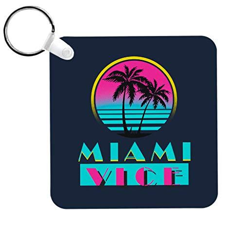 Cloud City 7 Miami Vice Logo Keyring