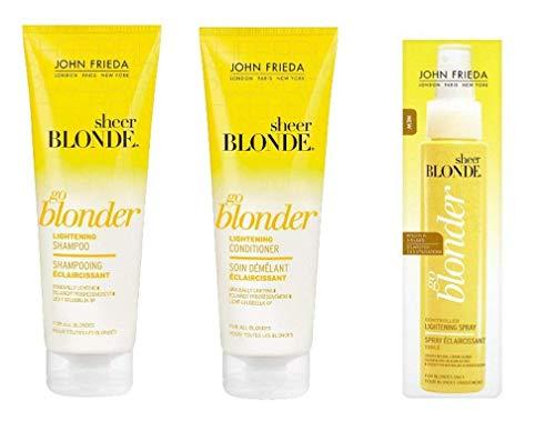 John Frieda Sheer Blonde Go Blonder Shampoo & Spülung & Hightlight Spray