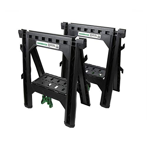 Metabo HPT Sawhorses | Folding | 1200 Lb. Capacity | 2-Pack | 115445M