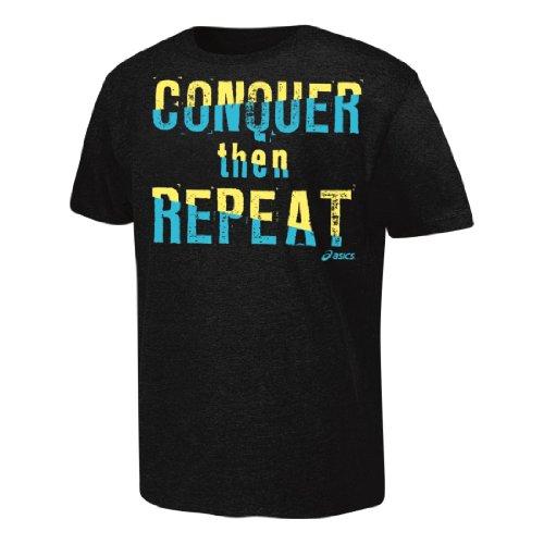ASICS T-Shirt Conquer Then Repeat, Herren Damen, schwarz, X-Large