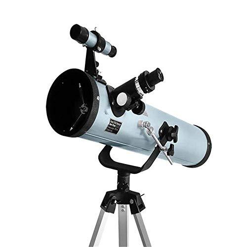 L.TSA Apertura Grande Telescopio astronómico Reflectante 350 Veces Telescopio monocular con Zoom Ultra HD Observación Espacial para Adultos