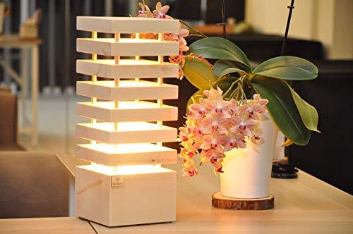 HolzGlanz Zirbenlampe Stehlampe inkl. LED Beleuchtung, Zirbenduft