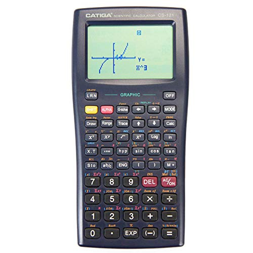Scientific Graphic Calculator - CATIGA CS121 - Scientific and Engineering Calculator - Programmable System (Black)