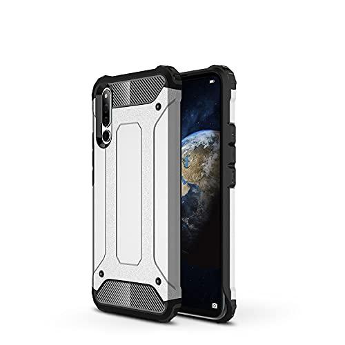 ZHIWEI Das tragbare Handy Tasche Schutzhülle für Huawei Honor Magic 2 Hülle, TPU + PC Stoßfänger Dual Layer Stoßdämpfe Hybridschutz Robustes Fall (Color : Silver)