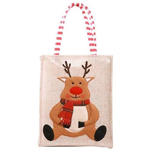 Transwen - Bolsa de Regalo para Navidad, Ideal para Regalar, Fiestas, cumpleaños, etc.