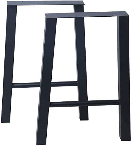 Tischkufen in A Form Capalta Blume 2 X Tischgestell Sitzbank Gestell Beine Couchtisch aus Stahl H45cm