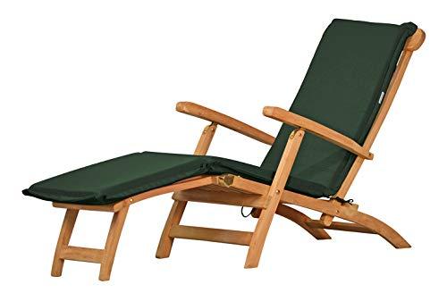 Auflage für Deckchair, grün, dralon, waschbar ✓ 2X geknickt ✓ Made in Germany ✓