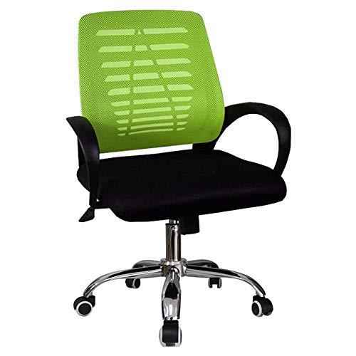 Qinmo Inicio Silla de oficina Escritorio Silla silla del acoplamiento ordenador, oficina en el centro posterior giratorio Soporte lumbar turística, ergonómico ordenador silla del acoplamiento con apoy