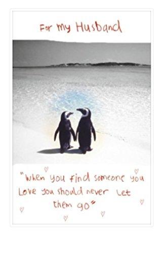 Geburtstagskarte für Ehemann, Pinguin-Design