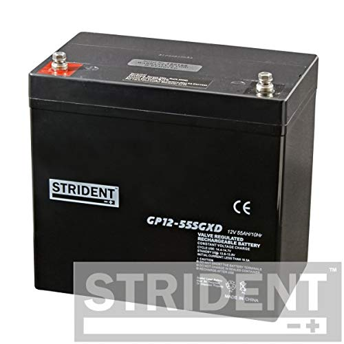 Pair of Strident 55ah 12v Batteries, Suitable for Pride Colt Pursuit, Rascal 850, Plus Many More Mobility Scooters, 12 Months Warranty and Delivered Within 48 Hours